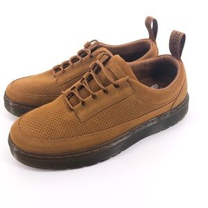 DR. MARTENS Reuban Perforated Derby Mens Shoe NEW